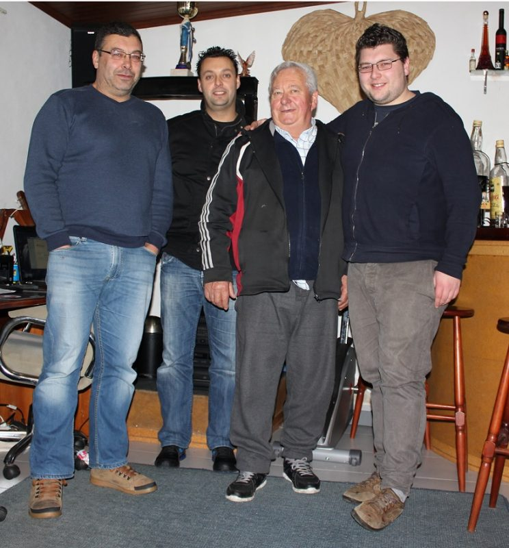 António Duarte (49 anos), Marco Duarte (37 anos), António Clemente Duarte (70 anos) e João Duarte (22 anos)